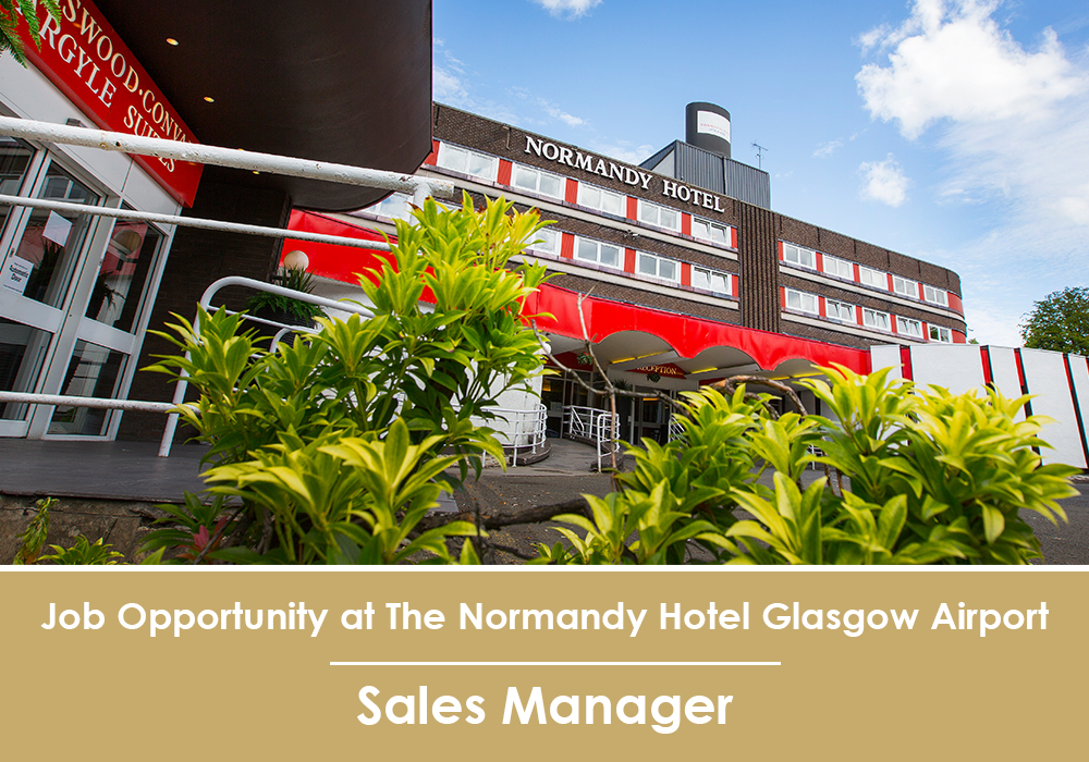 Image of Normandy Hotel with job vacancy info for sales manager